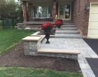 exterior landscape design interlocking steps