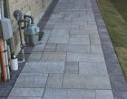 exterior landscape design Interlocking brick walkways