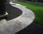 exterior landscape design Interlocking brick walkways