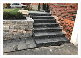 retaining wall stairs vaughan 1